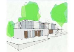 Estudio previo Vivienda Calella de Palafrugell realizado por udeu arquitectura